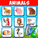 Animal sounds for kids. Learn animals name! 4.9 APK