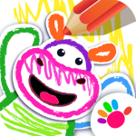 Bini DRAW & DANCE! Kids Coloring Apps for Toddler!  APK