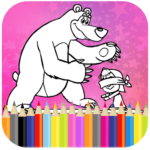 Coloring Book For Kids : Little Girl and Bear 1.14 APK