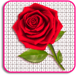 Rose Flowers Coloring Book, Color By Number Pixel 4.0 APK