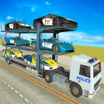 City Police Car Transporter Truck: Trailer Driving 3.4  APK