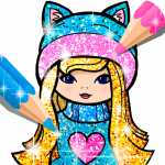 Girls Coloring Book for Kids Glitter 1.1.6.4 APK