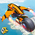 Real Flying Robot Bike : Robot Shooting Games 2.3 APK