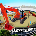 Cricket Stadium Builder Construction Crane Game 3D 1.3 APK