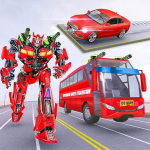 Muscle car robot game – Bus robot transform games 1.4 APK