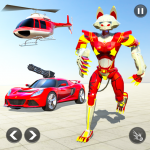 Cat Robot Car Game – Car Robot War 1.4 APK