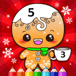 Happy Kids Christmas Coloring Book By Numbers 2.1 APK