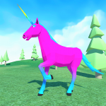 🦄 Unicorn Simulator Family Free 2-Wild Horse Game 1.38 APK