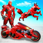 Wild Fox Transform Bike Robot Shooting: Robot Game 20 APK