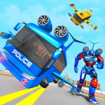 Flying Bus Robot Transform War- Police Robot Games 1.15  APK