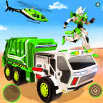 Flying Garbage Truck Robot Transform: Robot Games 28  APK
