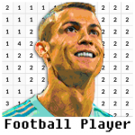 Football Player Coloring By Number – Pixel 8.0 APK