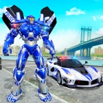 US Police Car Real Robot Transform: Robot Car Game 164 APK