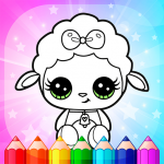 Flower Magic Color-kids coloring book with animals 3.9  APK
