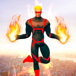 Flying Fire Hero Games: Flying Robot Crime City 1.0.9 APK
