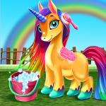 Little Unicorn Care Baby Pony Pet 0.6 APK