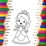 Princess Coloring Book 👸🎨 – Games for Girls 🌈 1.1.3 APK