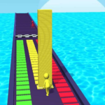 Tower Stack colors kick-Collect cubes tower run  APK
