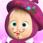 Masha and the Bear: Free Coloring Pages for Kids  APK
