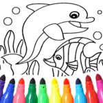 Dolphin and fish coloring book  APK 1.6.6